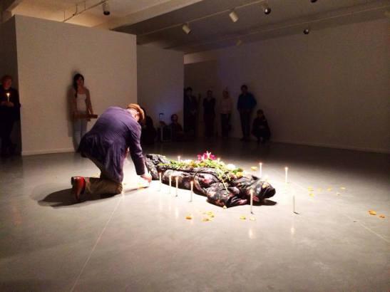 Elia Arce at Art League Houston with Bill Arning