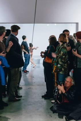 Abel Azon at Art League Houston, photo courtesy of Alex Barber